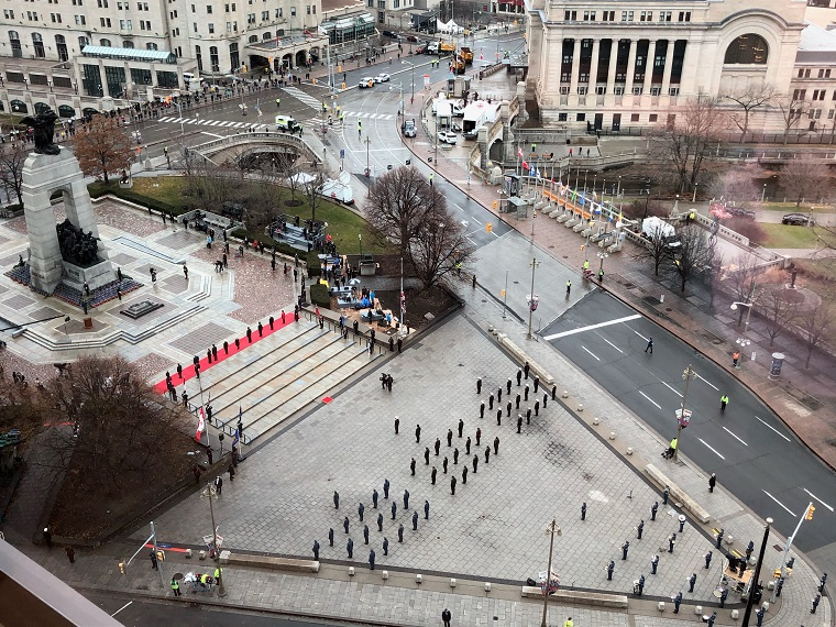 Remembrance Day ceremonies in the nation's capital featured few crowds amid the pandemic.