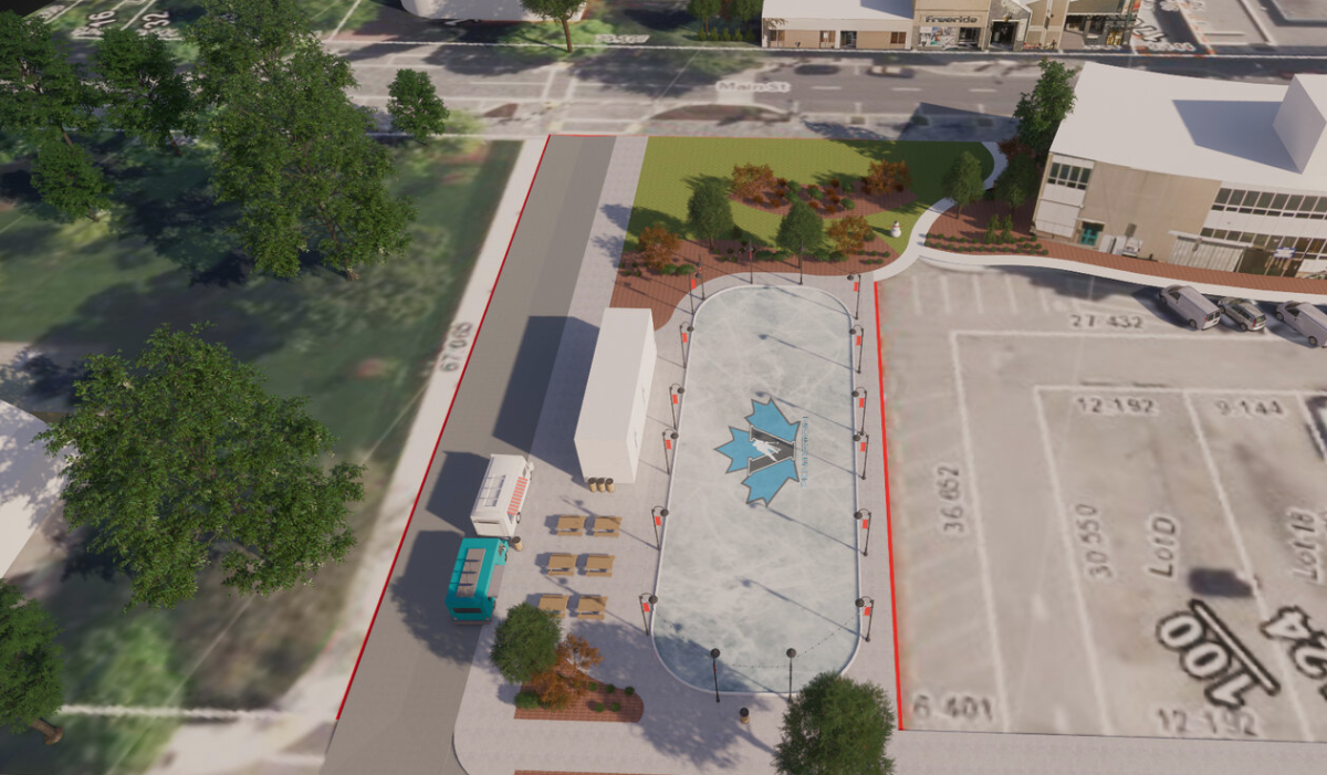 The outdoor ice rink proposed for downtown Penticton.