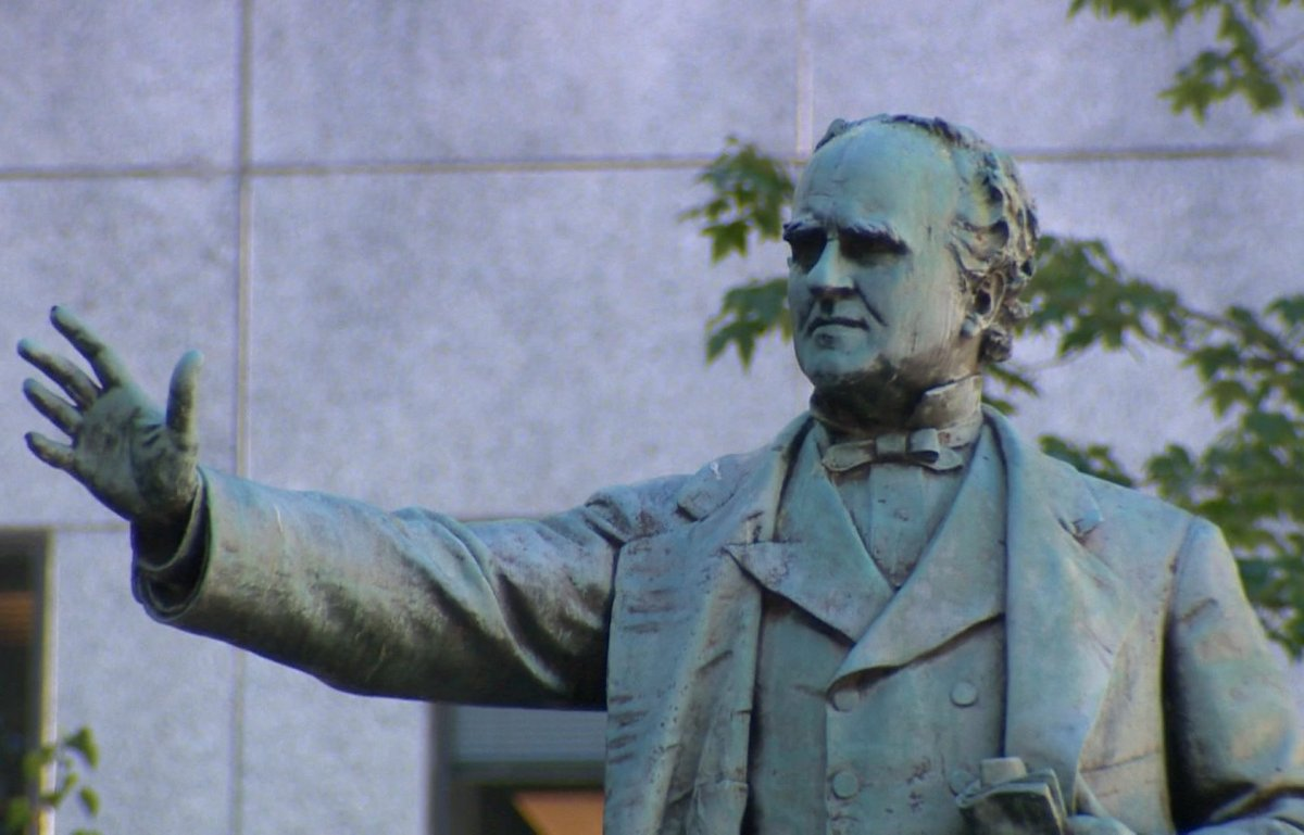 File -  A statue of Joseph Howe, renown journalist and premier of Nova Scotia, on the grounds of the provincial legislature.