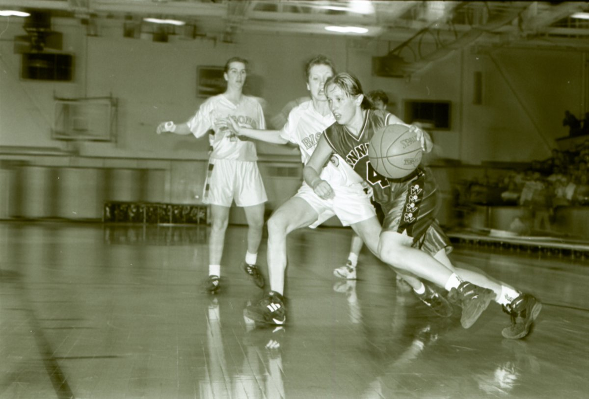 Sandra Carroll was a three-time all-Canadian, two-time nationals MVP and led the Wesmen to three straight national championships.