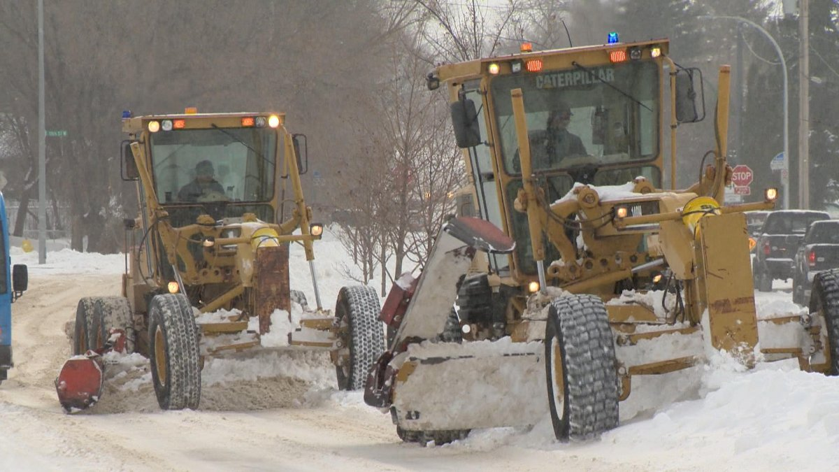 A new report, presented to Saskatoon city council, predicts snow from November's blizzard won't be completely removed until the end of January 2021.