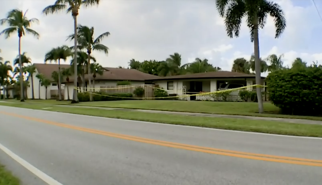 The scene of a shooting in Florida