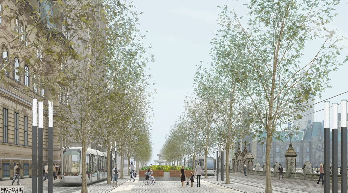Discussion about a potential Ottawa-Gatineau loop, which could see at-grade rail in front of Parliament Hill and Wellington Street converted into a pedestrian plaza, took up much of the conversation at Monday's transportation committee.