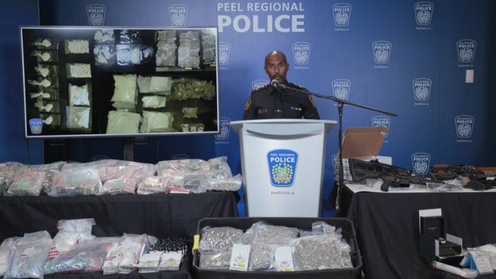 Peel Regional Police Chief Nishan Duraiappah speaks about Project Siphon on Wednesday.