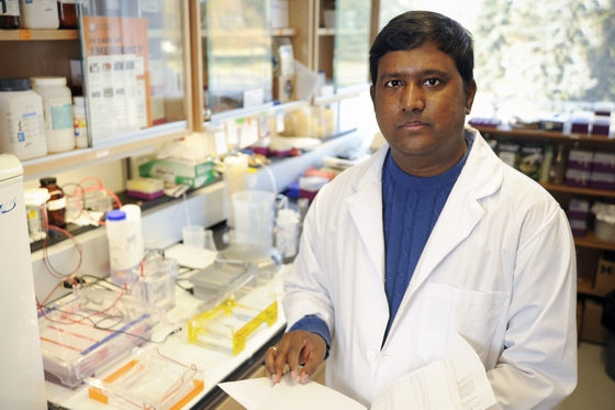 Mohan Babu, a biochemist at the University of Regina received funding for ongoing research related to COVID-19.