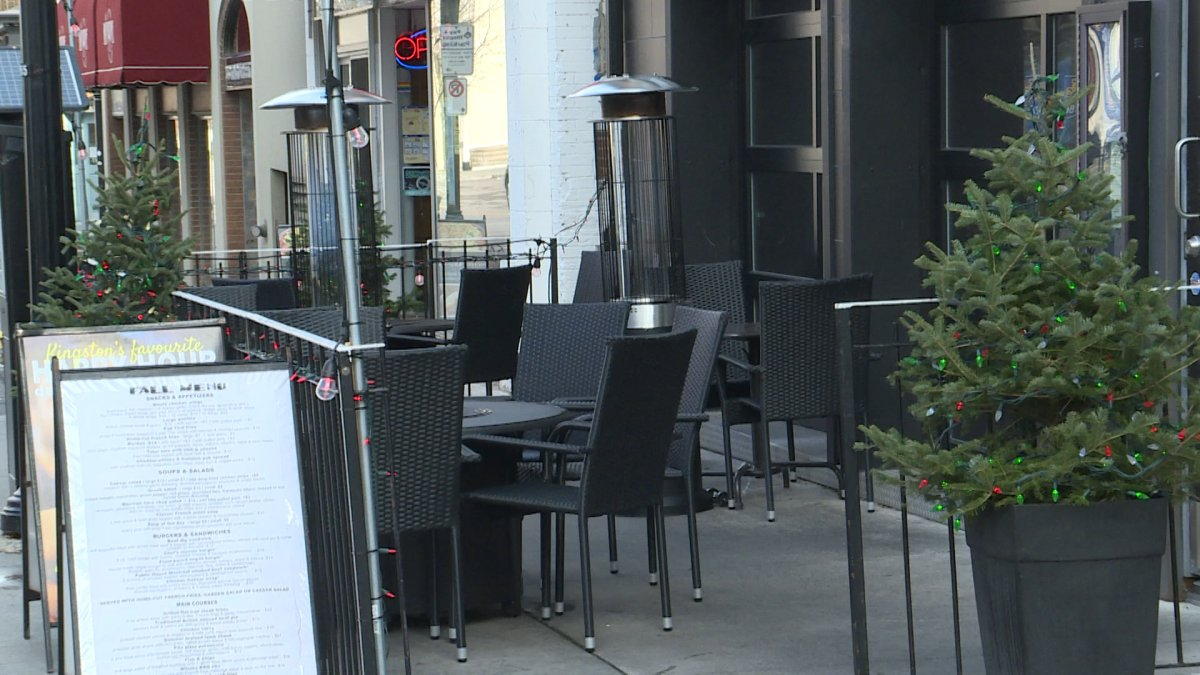 Outdoor patio at The Public House.