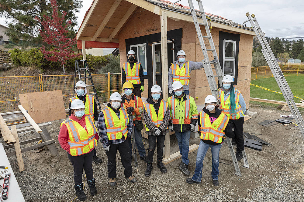 Ten Indigenous students in the Okanagan built an energy-efficient shed on Westbank First Nation as part of a recent training program.