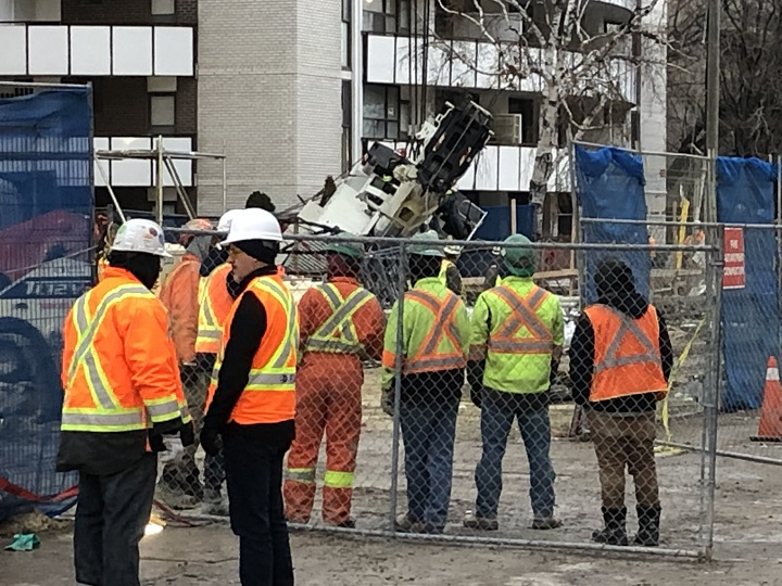 Eglinton Crosstown LRT worker injured after mobile truck crane tips over at construction site