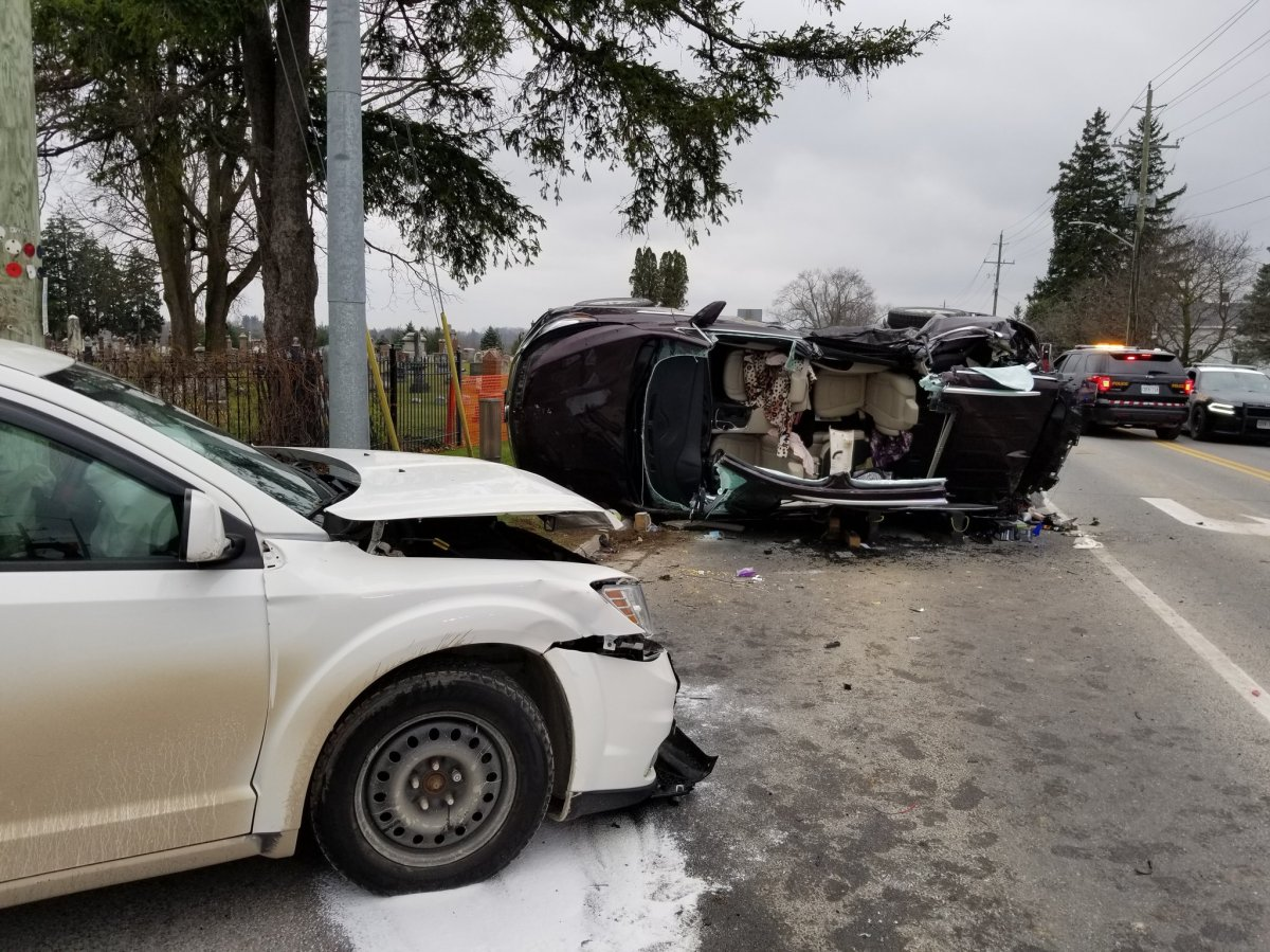 OPP say two people suffered serious injuries in the crash.