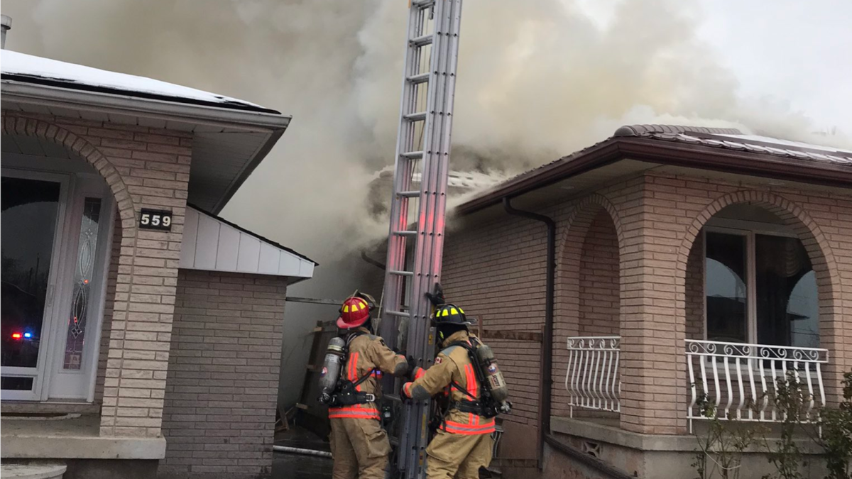 Hamilton Fire knocked down a blaze at a home on Queen Victoria Drive on Nov. 24, 2020.