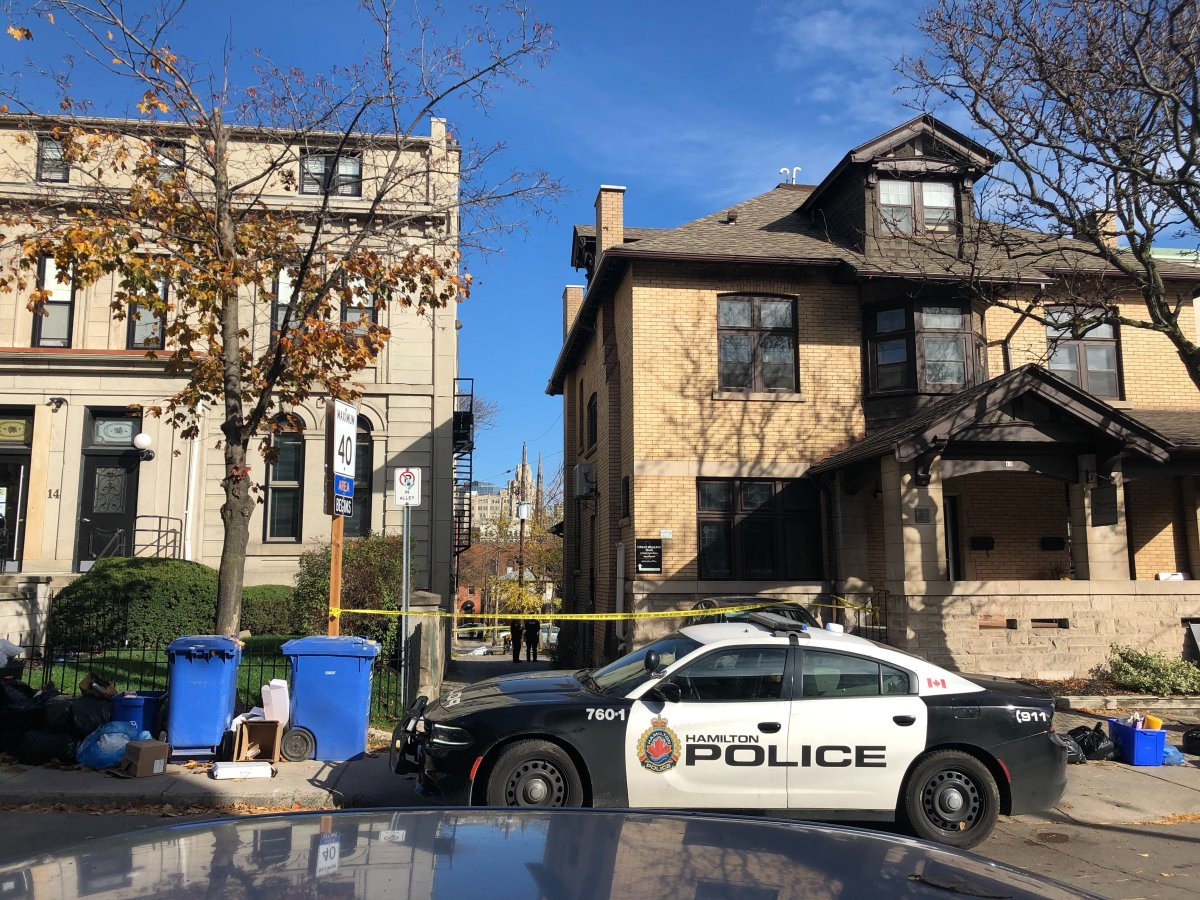 Hamilton police say the city's 14th homicide of 2020 happened in an area Duke and MacNab Streets in downtown.