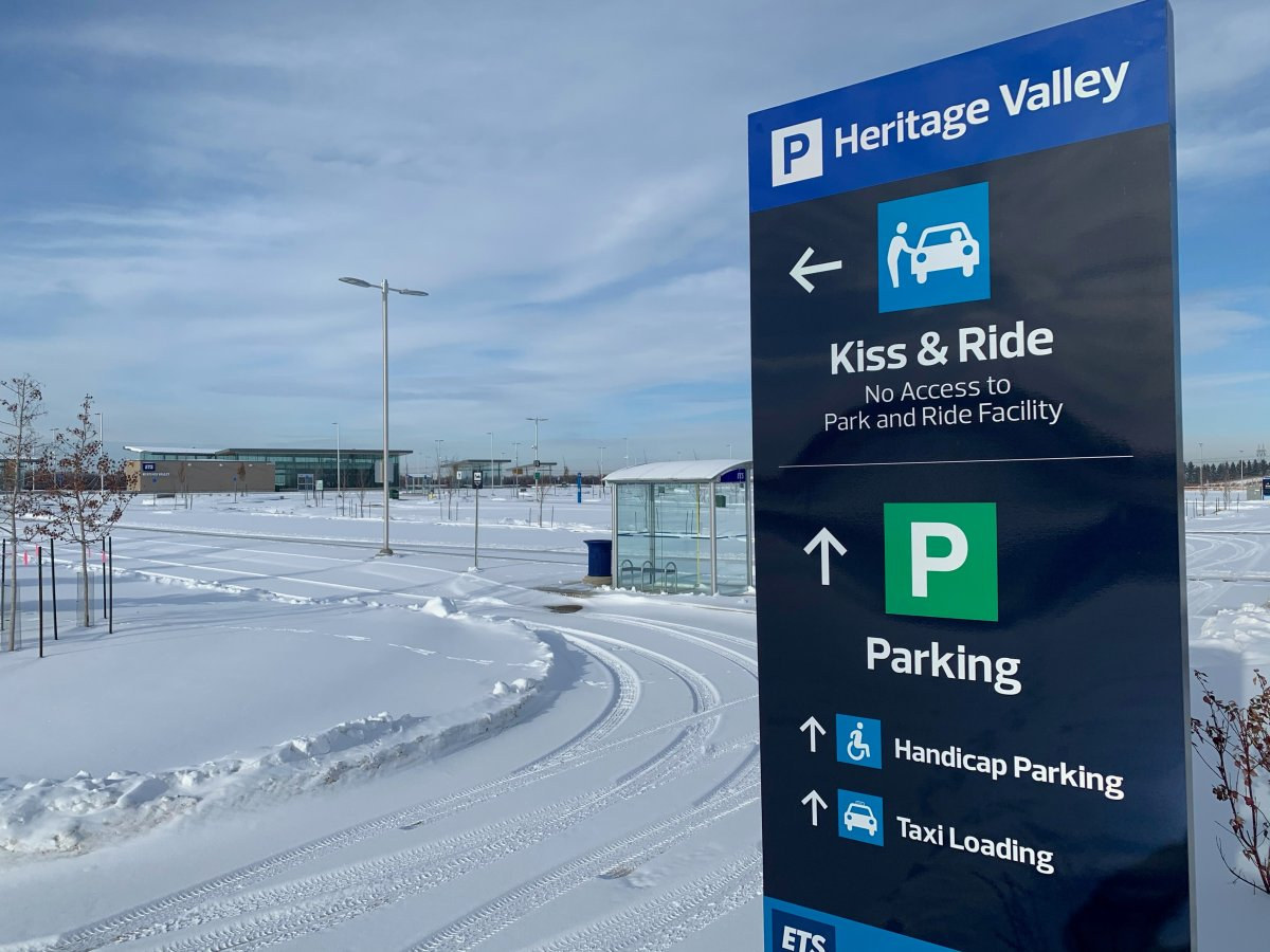 The Heritage Valley park and ride pictured in Edmonton Friday, Nov. 20, 2020.