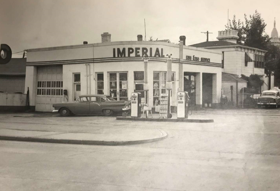 The murder took place in 1957 at this St. Boniface gas station.
