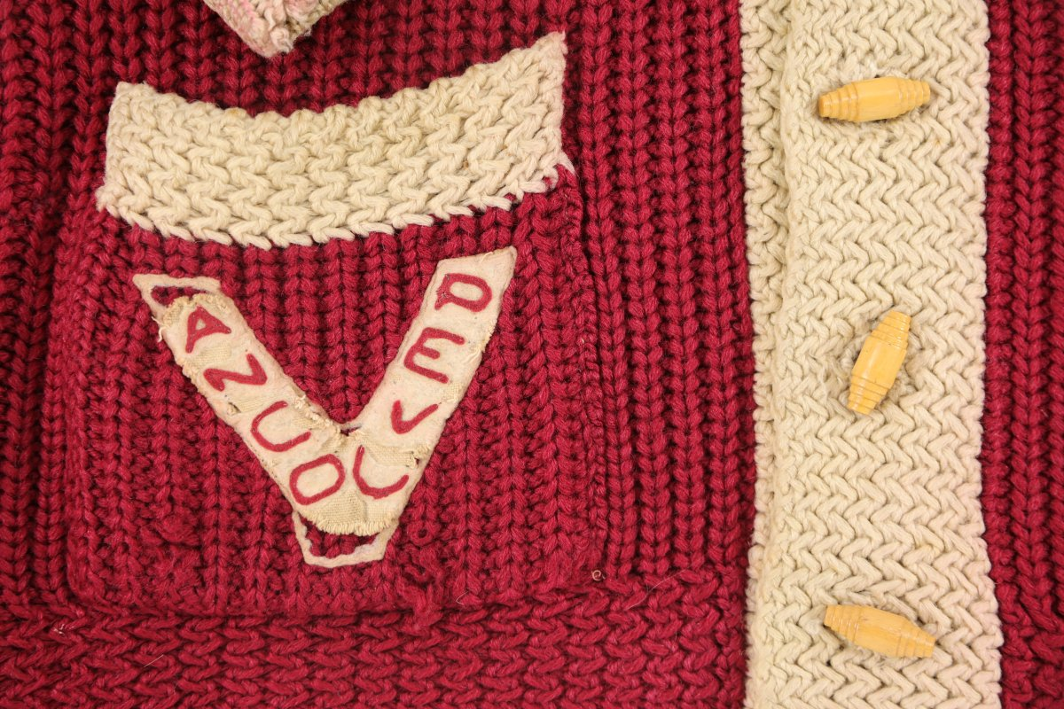 A 96-year-old Vancouver Millionaires/Vancouver Maroons sweater has hit the auction block.