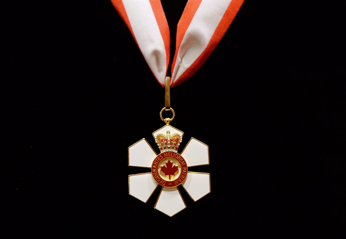 The Extraordinary Companion to the Order of Canada medal given to Prince Charles by then-governor general David Johnston at Rideau Hall in Ottawa on Saturday, July 1, 2017.