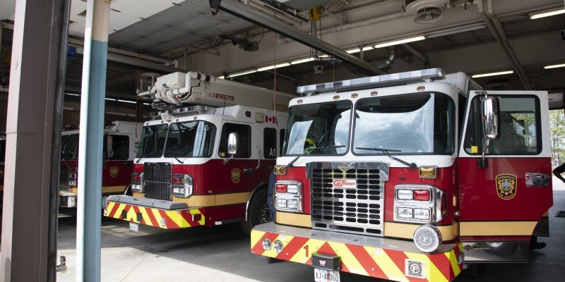 A man is accused of assaulting a Peterborough firefighter during a response to a medical call for service.