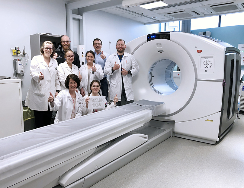 QEII Radiologists were able to raise money for a new PET-CT scan.