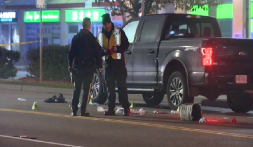 A pedestrian was taken to hospital with life-threatening injuries after a collision in Richmond overnight.