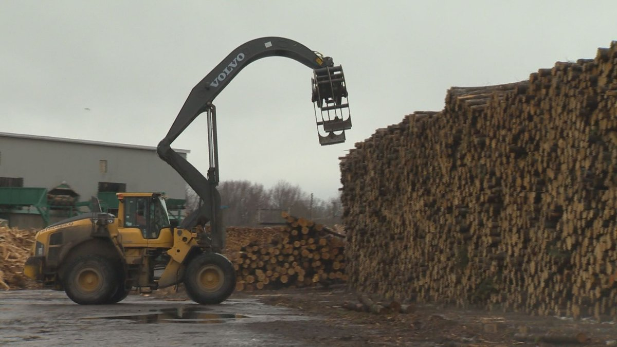 A softwood lumber mill in New Brunswick.