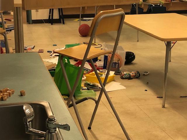 A look inside Fairview Elementary School in Maple Ridge B.C. Monday morning.