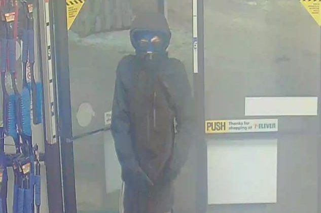 RCMP search for suspect in Sherwood Park 7-Eleven robbery, Friday, Nov. 27, 2020.