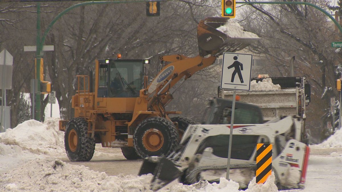 Saskatoon city officials said crews were ahead of schedule and snow should be cleared from streets by next Friday.