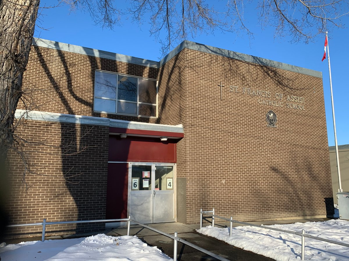 St. Francis of Assisi Elementary in northeast Edmonton pictured on Thursday, Nov. 12, 2020.