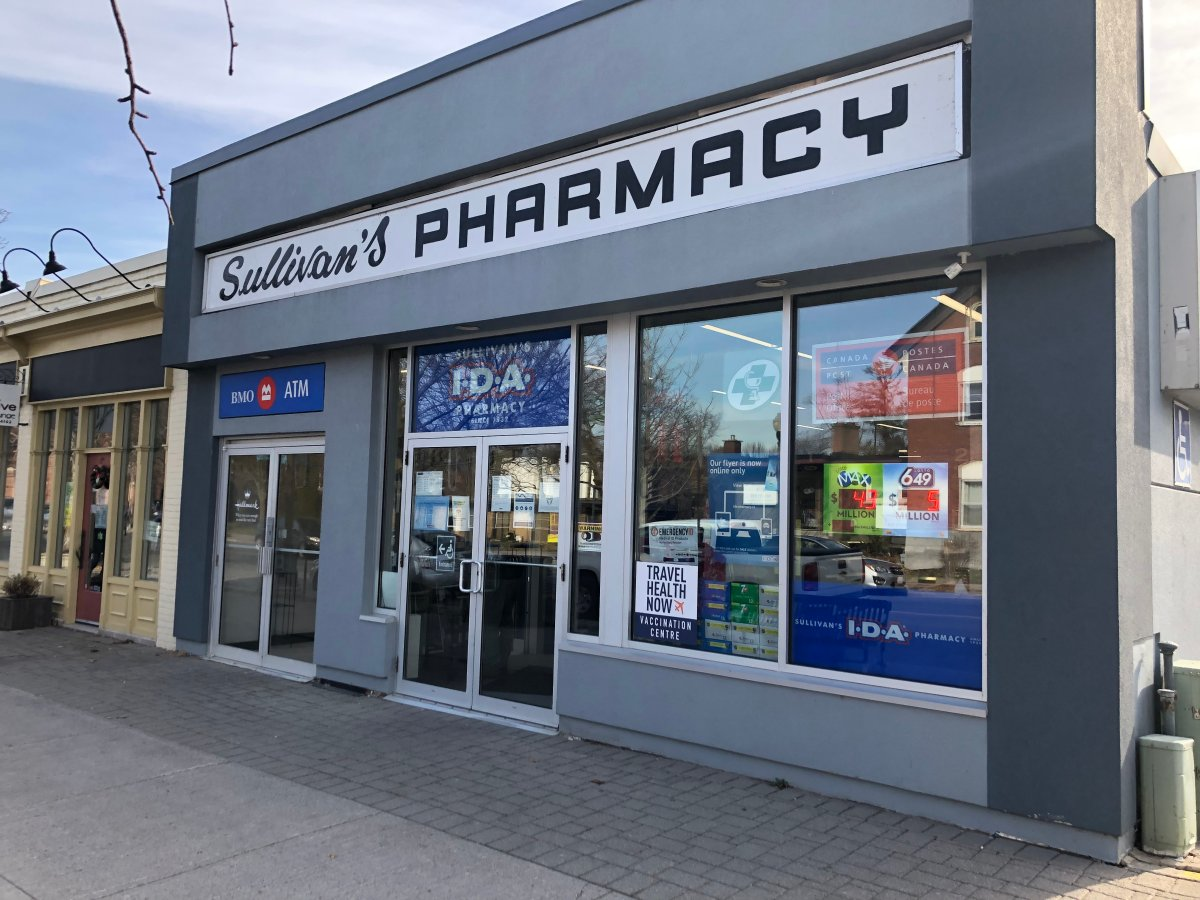 Sullivan's Pharmacy in Peterborough isn't receiving enough flu vaccines to support demand.