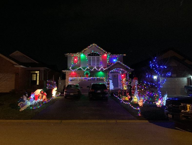 The Webers have their lights on at 2034 Rollingacres Dr. from 5:30 p.m. to 10:30 p.m. every night.