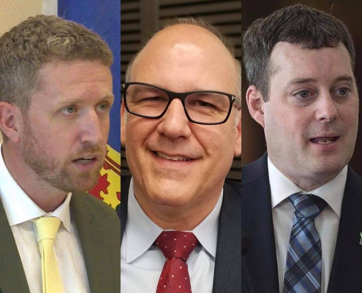 (L to R) Iain Rankin, Labi Kousoulis and Randy Delorey are the three men in the race to become the next leader of the Nova Scotia Liberal party and the next premier of the province.
