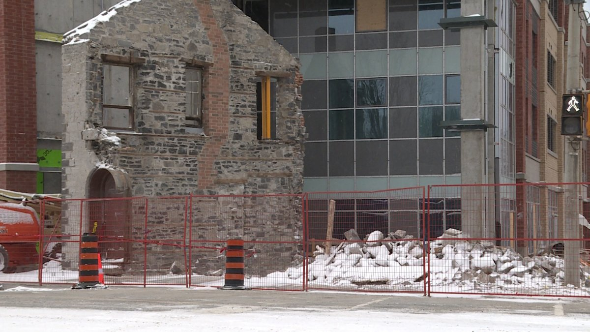 19th century Kingston building collapses - image