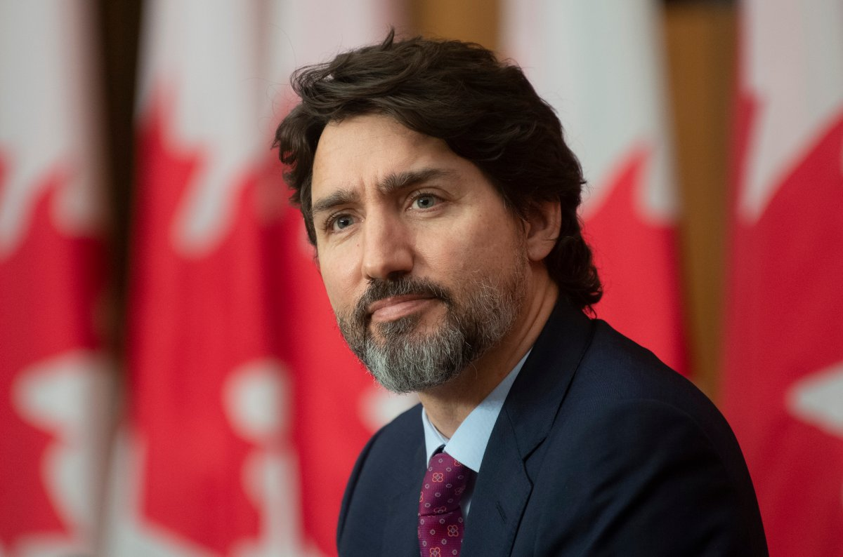 Prime Minister Justin Trudeau is seen during a news conference in Ottawa, Monday, Dec. 7, 2020. THE CANADIAN PRESS/Adrian Wyld