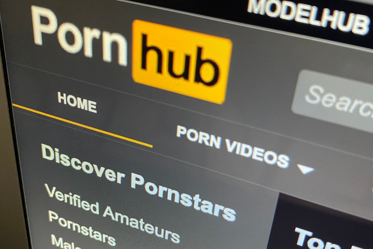 The Pornhub website is shown on a computer screen in Toronto on Wednesday, Dec. 16, 2020.