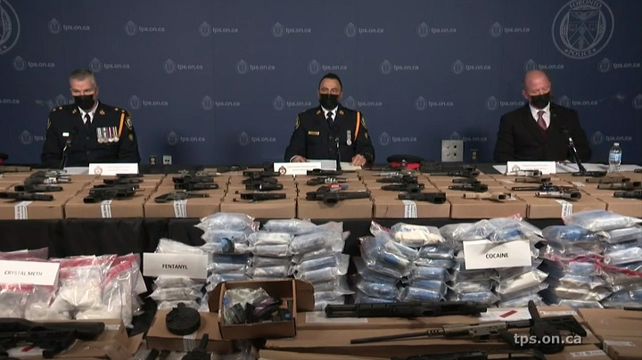 Toronto police announced the seizure during a news conference Wednesday afternoon.