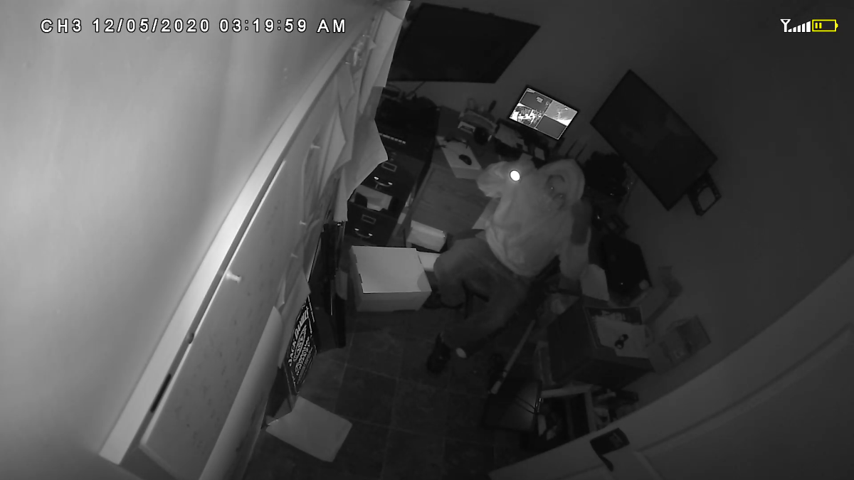 Police in Lindsay are investigating the theft of electronics from a business in early Decemember.