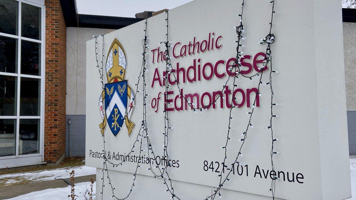 The Catholic Archdiocese of Edmonton offices, Saturday, Dec. 26, 2020.