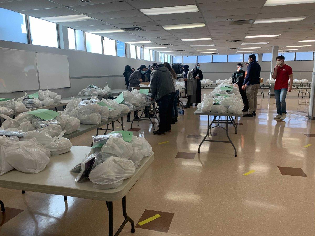Edmonton's Al Rashid Mosque delivered meals and COVID-19 kits to seniors, Sunday, Dec. 20, 2020.