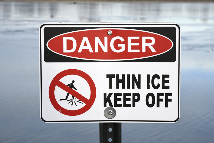 Winnipeg residents are warned about thin ice in the area and should stay off retention ponds.