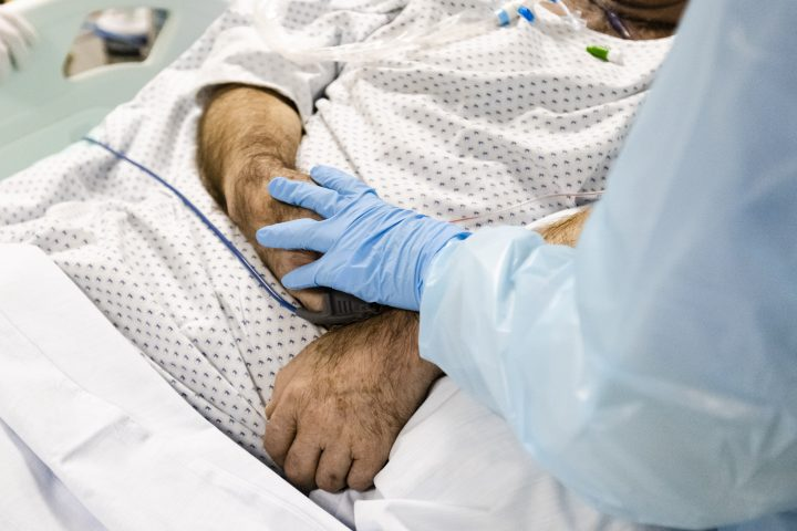 A file shot of a patient in intensive care.