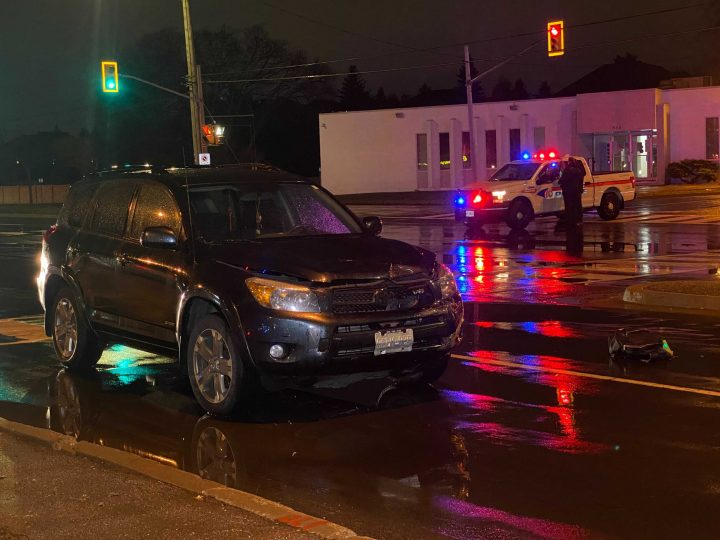 The scene of a fatal collision in Richmond Hill Wednesday night.