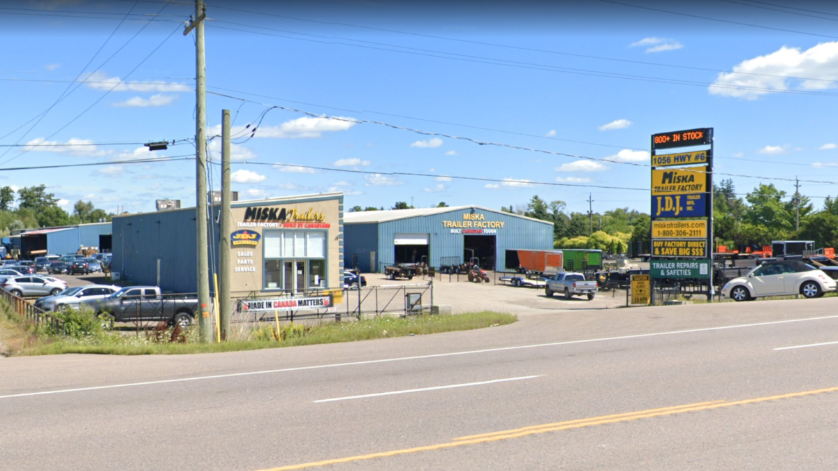 The Miska Trailer Factory is located at 1056 Highway 6 North in Hamilton, Ont.