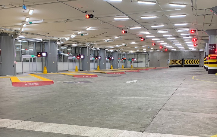 The ground level of the new Union Station bus terminal is seen before GO Transit began operations on Saturday.