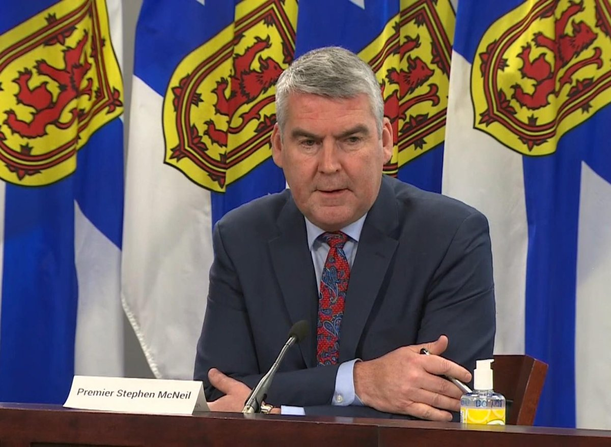 Nova Scotia Premier Stephen McNeil speaks after a meeting of the provincial cabinet on Dec. 17, 2020.