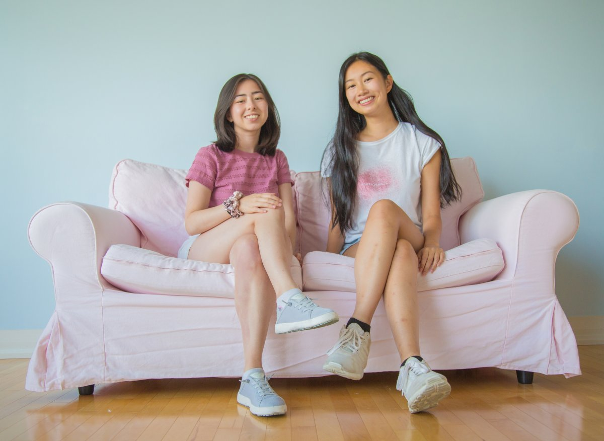 Apricotton founders are Jessica Miao and Chloe Beaudoin.
