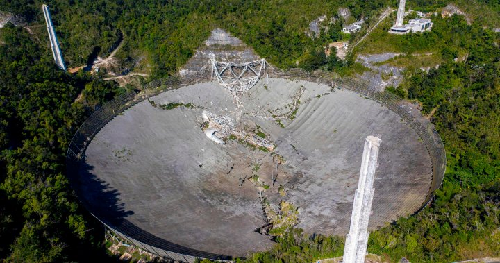 Massive Puerto Rico radio telescope collapses after cables snap