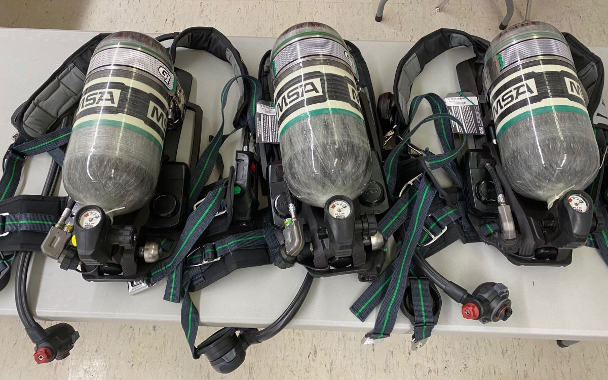 The fire chief in Canora, Sask., said the equipment recovered by RCMP includes three brand-new breathing apparatuses and uniforms.