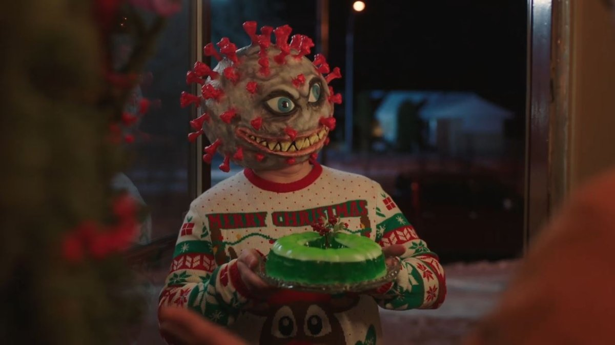 """A new ad campaign launched by the Alberta government Friday, Dec. 11, 2020 states """"nobody loves a holiday gathering more than COVID."""" ."""