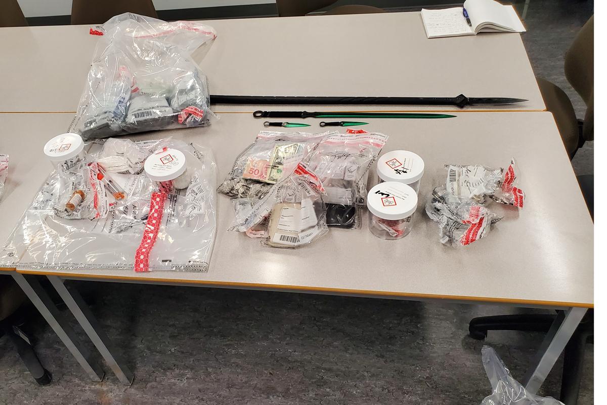 Waterloo Regional Police seized fentanyl, methamphetamine, morphine pills, marijuana and oxycodone pills in South Galt in Thursday.