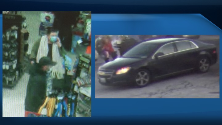Police say a man and a woman took clothes and a power tool without paying from a Bradford, Ont., store on Tuesday afternoon.