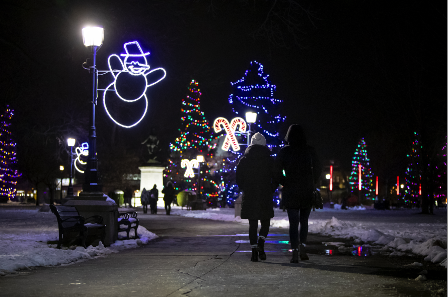 Residents can enjoy the Christmas lights in Victoria Park nightly from 5 p.m. to 11 p.m. for the holiday season.